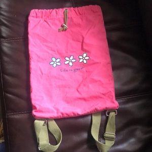 Life is good backpack pink mini duffel